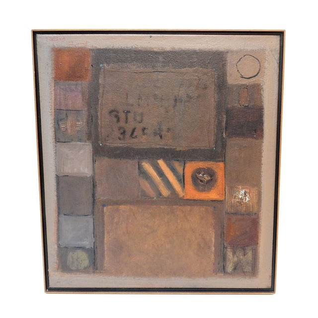 1994 Jose Guedez Original Abstract Oil Painting - Image 1 of 6