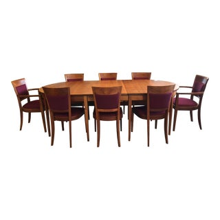 Contemporary Thomas Moser Cherrywood Dining Set - 9 Pieces