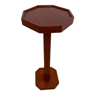 Cherry Octagonal Side Accent Table For Sale