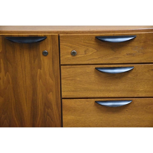 Black Petite Walnut Credenza by Jens Risom For Sale - Image 8 of 12