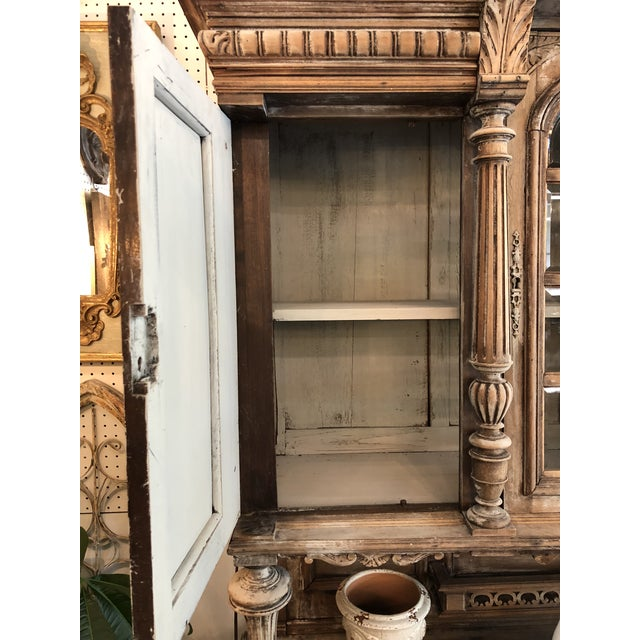 19th C. French Henri II Renaissance Revival Buffet & Hutch For Sale - Image 11 of 13