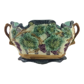 French Majolica Cachepot For Sale