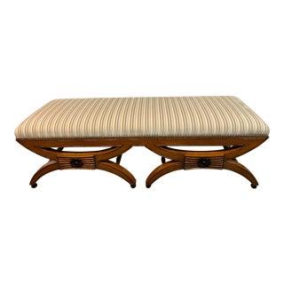 LxRossi Biedermeier Velvet Stripe Bench For Sale