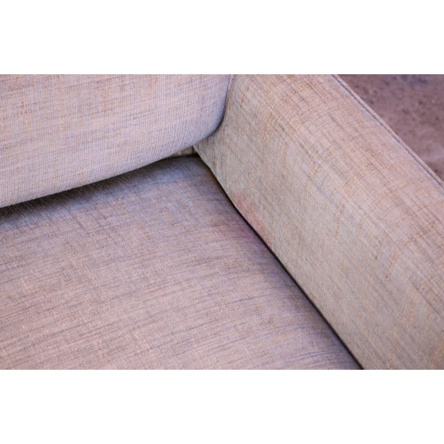 Beige Edward Wormley for Dunbar Sofa With Brass Feet For Sale - Image 8 of 13