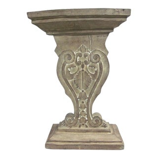 Hand-Carved and Cerused Modern Neoclassical Northern Italian Console