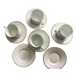 Tiffany & Co Vintage Porcelain Demitasse Coffee/ Tea Cups & Saucers - Set of 10 For Sale
