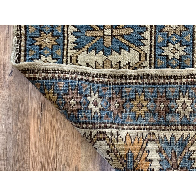 Late 19th Century Antique Russian Caucasian Rug- 3′10″ × 5′3″ For Sale - Image 9 of 11