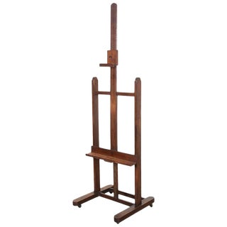 French 19th Century Oak Artist's Easel For Sale