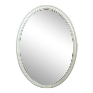 Vintage Modern Style Oval Mirror For Sale