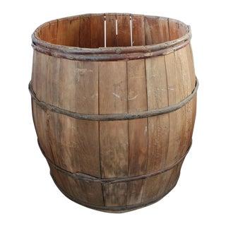 Vintage Wood Barrel For Sale