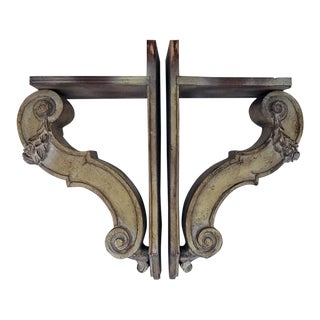 1950s Vintage Neoclassical Corbels- A Pair For Sale