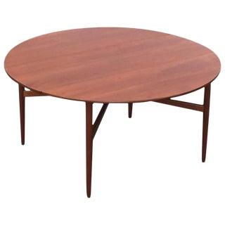 Danish Modern Teak Drop-Leaf Dining Table in the Style of Hans Wegner
