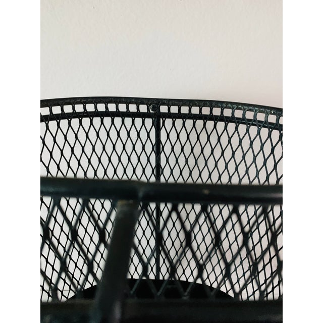 1960s Maurice Duchin Floating Iron Mesh Wastebasket Trash Can For Sale - Image 5 of 12