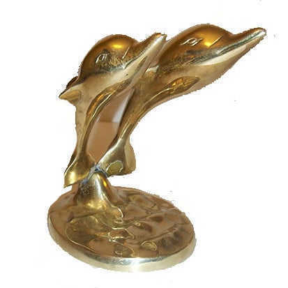 Brass Dolphin Pair - Image 1 of 4