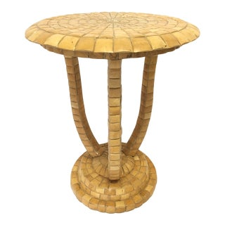 Maitland-Smith Tiled Side Table For Sale
