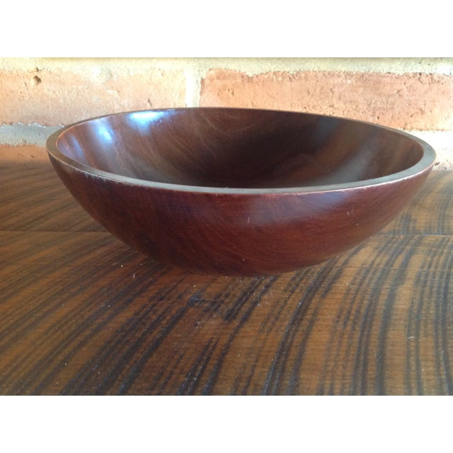 Contemporary Vintage Baribocraft Exotic Wood Salad Bowl For Sale - Image 3 of 8