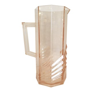 Vintage Salmon Color Lucite Pitcher