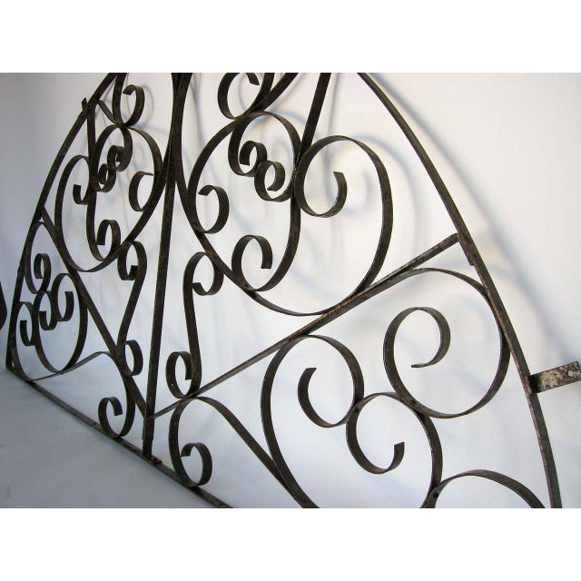Tribal Large Scale Decorative Iron Architectural Arch For Sale - Image 3 of 10