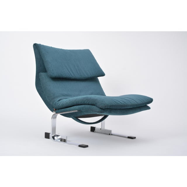 Reupholstered Onda Lounge Chair by Giovanni Offredi for Saporiti, Italy, 1970s For Sale - Image 10 of 12