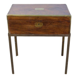Mid-19th Century English Writing Box on Stand For Sale