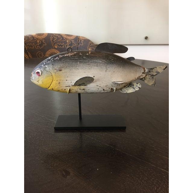 Metal Large Vintage Fishing Decoy For Sale - Image 7 of 7