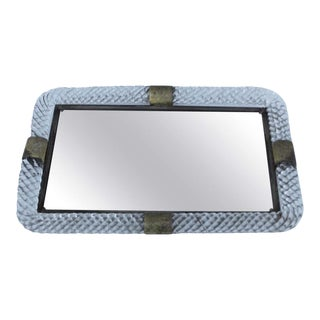 1940s Murano Glass Vanity Tray Mirror For Sale