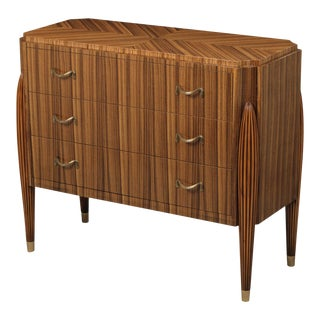 Scarborough House Zebrano Brass Chest of Drawers For Sale