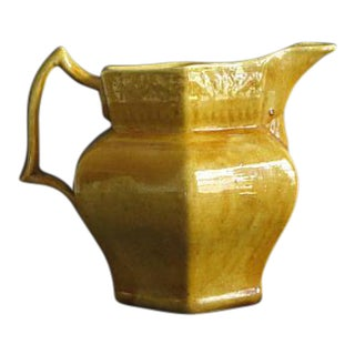 1910 Arts & Crafts Ceramic Pottery Pitcher by Clara Poillon for Poillon Pottery of Woodbridge, New Jersey For Sale
