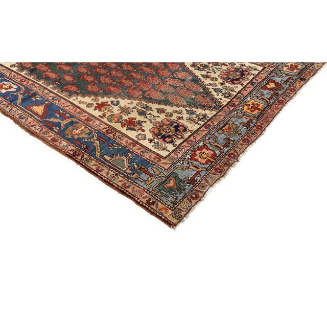 Antique Persian Malayer Rug with Modern Traditional Style For Sale - Image 5 of 8
