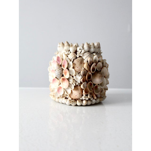 Vintage Seashell Vase For Sale - Image 9 of 12