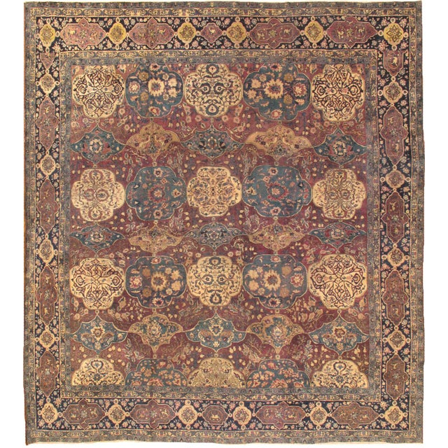 "Transitional 21st Century Pasargad Agra Lamb's Wool Area Rug- 11' 9"" X 12' 9"" For Sale - Image 3 of 3"