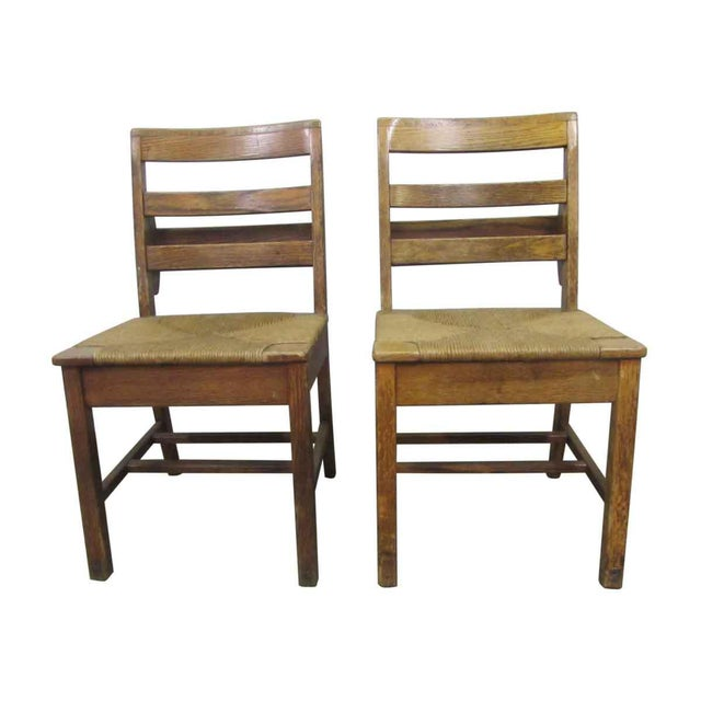 Early 20th Century Antique School Chairs- a Pair For Sale - Image 4 of 8 - Early 20th Century Antique School Chairs- A Pair Chairish