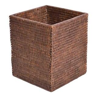 Artifacts Rattan Square Waste Basket