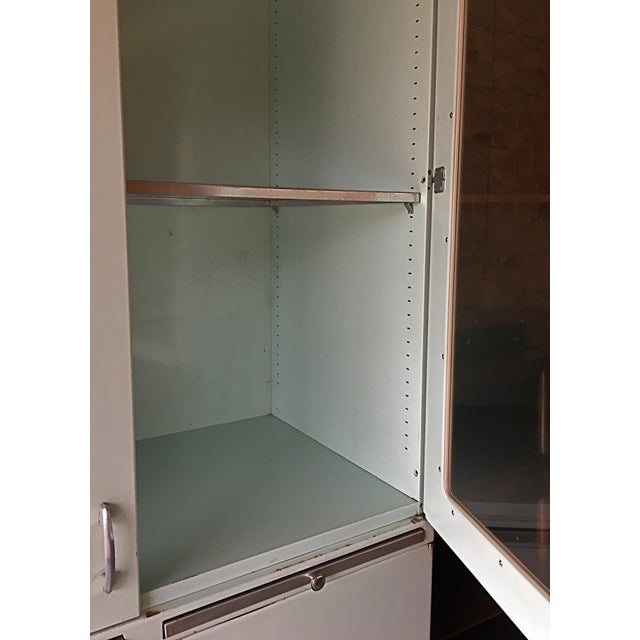 Green Vintage 60s Medical Cabinet For Sale - Image 8 of 9