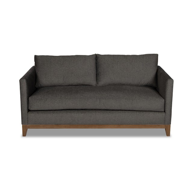 Textile Moss Home Linda Loveseat Crypton Granbury Graphite For Sale - Image 7 of 7