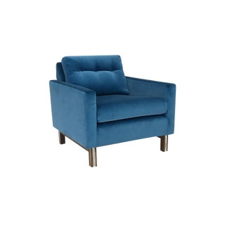 Mid Century Modern Lounge Chair in Electric Blue For Sale