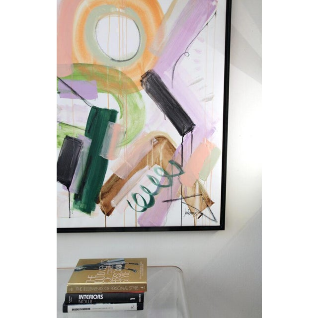 """Paint Original Abstract Painting by Jen Ramos, """"Pistol & Jewels 1"""" For Sale - Image 7 of 10"""