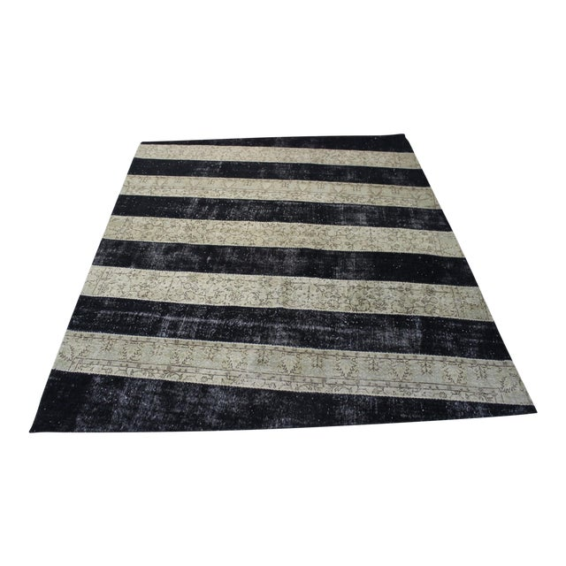 Turkish Zig Zag Anatolian Patchwork Rug - 8′7″ × 10′3″ - Image 1 of 7