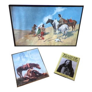 Native American Prints & Book - Set of 3 For Sale