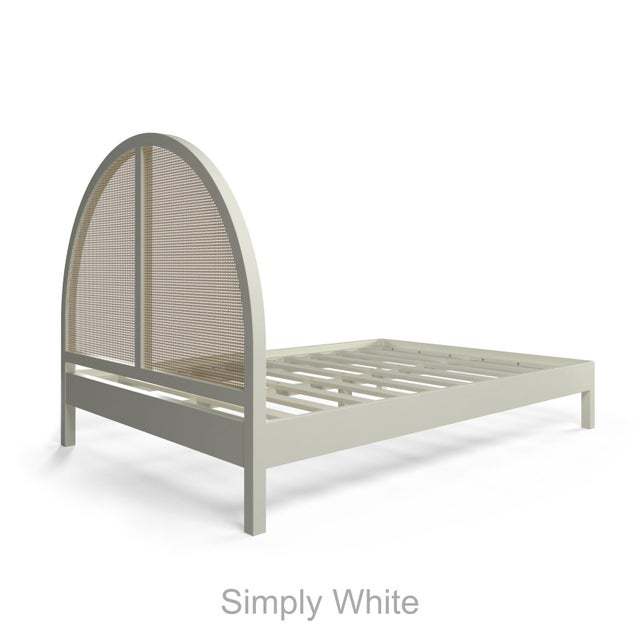 Eva Bed - Queen - Simply White For Sale - Image 4 of 5