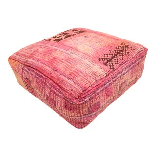 Berber Red Unstuffed Pouf For Sale