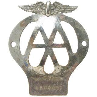 1957 English Automobile Association Badge For Sale