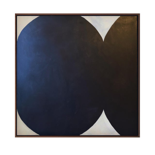 Contemporary Minimalist Abstract Monochromatic Acrylic and Gesso Painting by Brooks Burns, Framed For Sale - Image 4 of 5