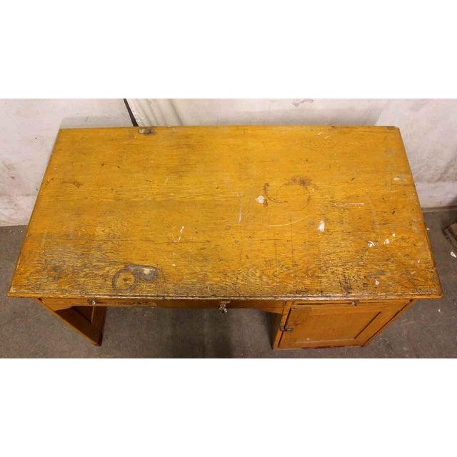 Restorable Oak Wood Library Desk - Image 5 of 8