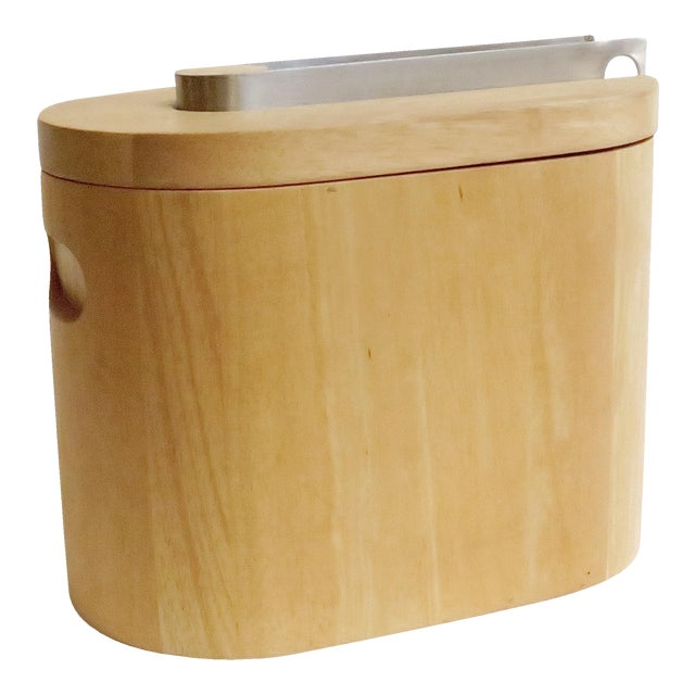 Modern Wooden Ice Bucket For Sale