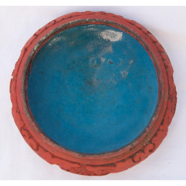 Antique Asian Cinnabar Bowl For Sale - Image 4 of 11