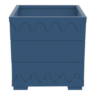 Ocean Drive Outdoor Planter Small, Blue For Sale