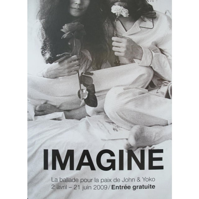 Contemporary 2009 Exhibition Poster, Imagine John Lennon and Yoko Ono Bed-In for Peace For Sale - Image 3 of 3