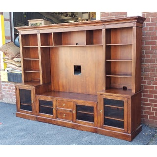 Ethan Allen British Classics Cinnabar Multiple Piece Media Center Wall Unit Preview