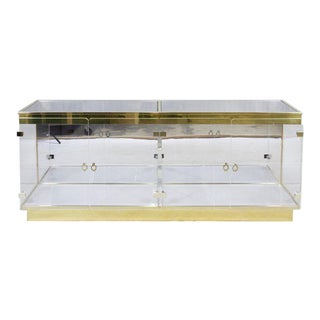 Double Plexiglass Display Case Attributed to Mastercraft